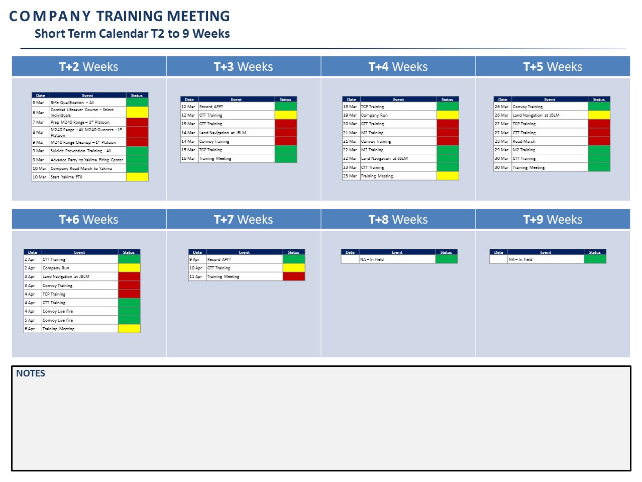 Army training calendar template excel free human for Army battle roster template